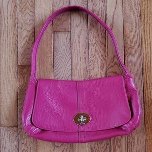 Coach Bright Fuchsia Baguette Bag